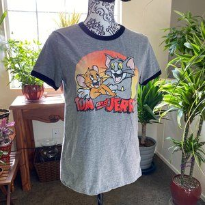 * Tom and Jerry Graphic Tee Short Sleeve T-Shirt *